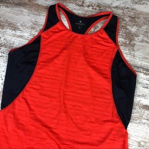 Athleta Orange Navy Workout Tank